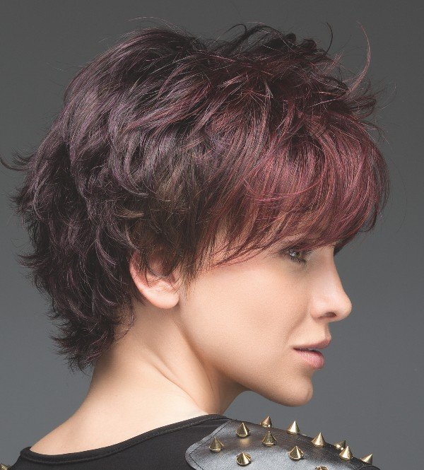 OPEN is a short, ultra textured wig by Ellen Wille.