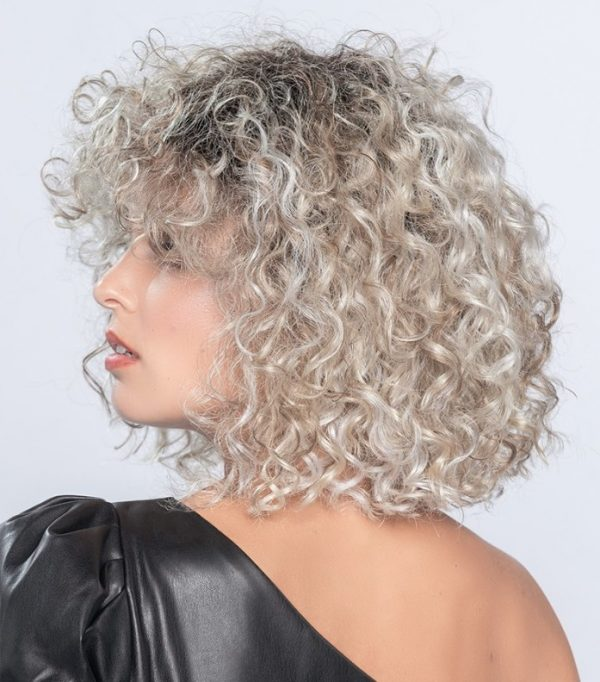 DISCO wig full of voluminous spiral curls by designer Ellen Wille.